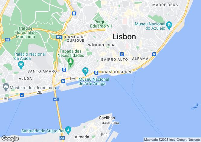 Map for One D. Carlos I, Santos-O-Velho, Lisbon, Portugal