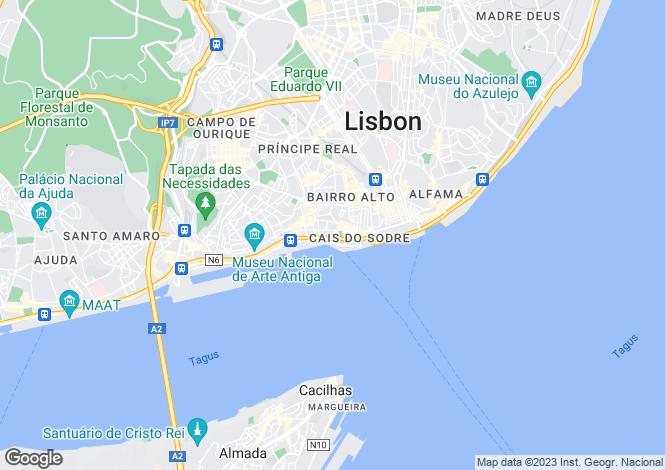 Map for Lisbon