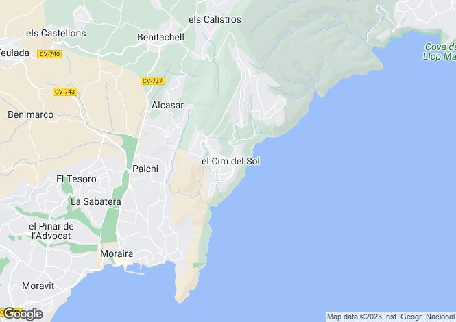 Map for Cumbre Del Sol, Alicante, Spain