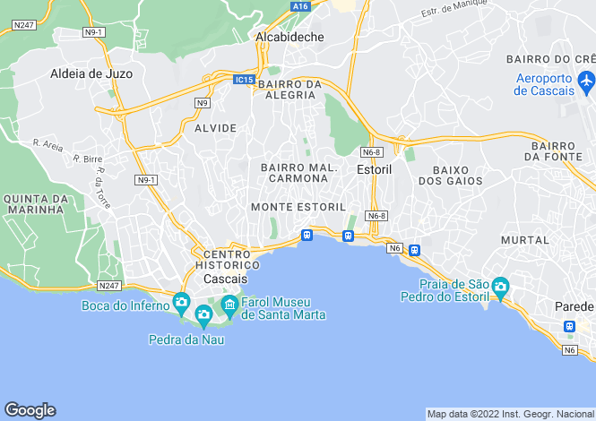 Map for Estoril, Lisboa, Portugal