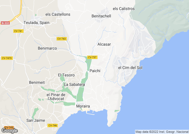 Map for Benitachell, Spain