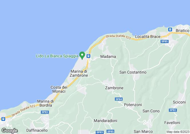 Map for Zambrone, Vibo Valentia, Calabria
