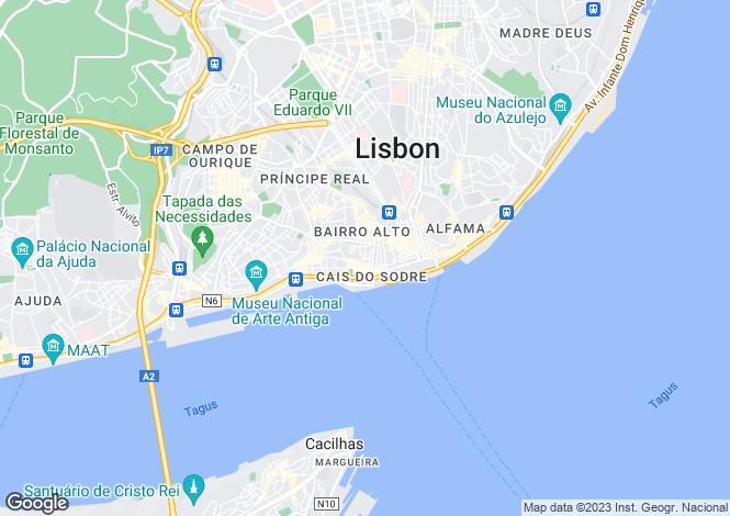Map for EMENDA 5, Chiado, Lisbon