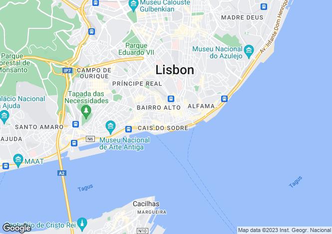Map for Rua Antonio Maria Cardoso, Chiado, Lisbon, Portugal