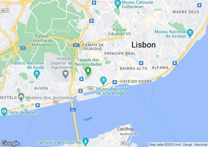 Map for Lapa, Lisbon, Portugal