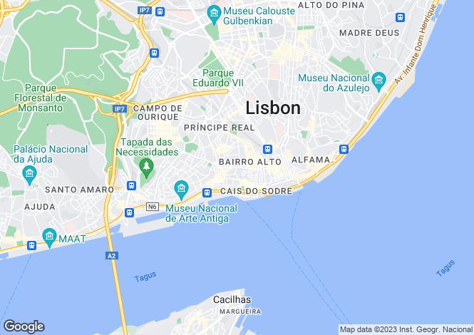 Map for Setúbal, Santa Catarina