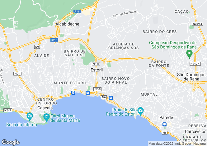 Map for Estoril, Lisbon, Portugal