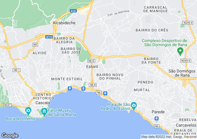 Map for Estoril, Lisbon