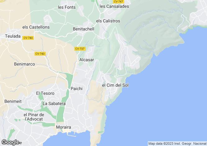 Map for Moraira, Alicante