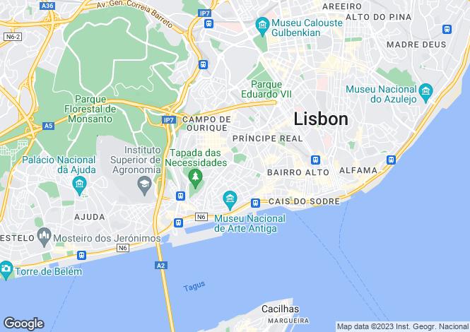 Map for Estrela, Lisboa, Lisboa