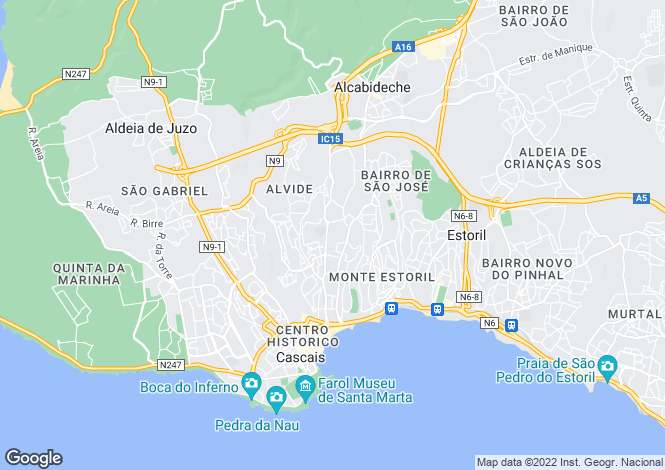Map for Lisbon, Cascais