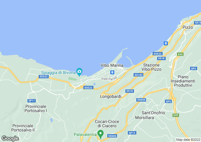 Map for Vibo Marina, Vibo Valentia, Calabria