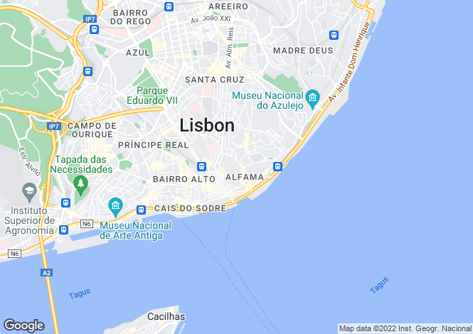 Map for Santa Maria Maior, Lisboa, Lisboa