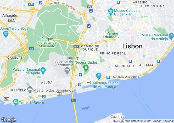 Map for Campo de Ourique, Lisbon, Portugal, 1070-008