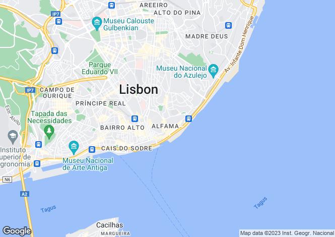Map for São Vicente, Lisboa, Lisboa