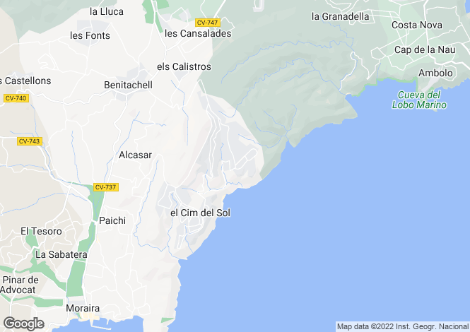 Map for Cumbre del Sol, Costa Blanca, Spain