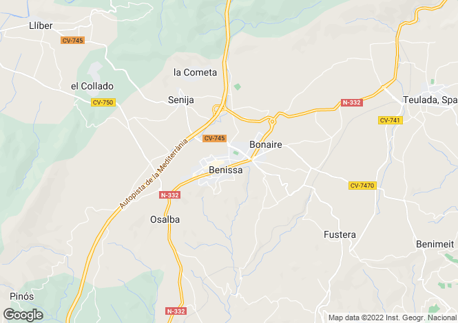 Map for Benissa, Valencia, 03724, Spain