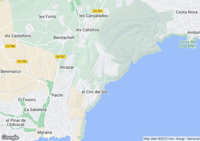 Map for Cumbre Del Sol, Spain