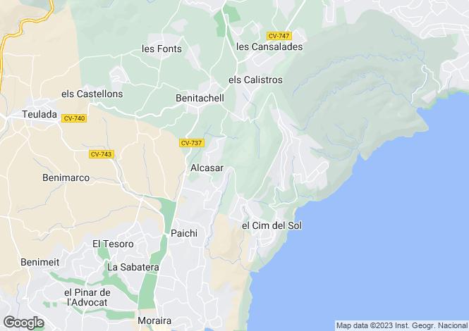 Map for Benitachell, Alicante, Valencia