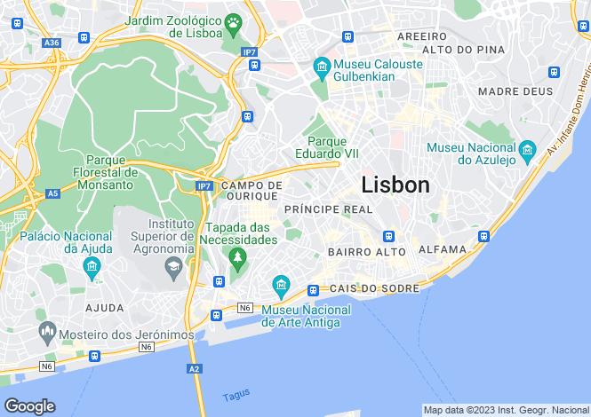 Map for Campo de Ourique, Lisboa, Lisboa