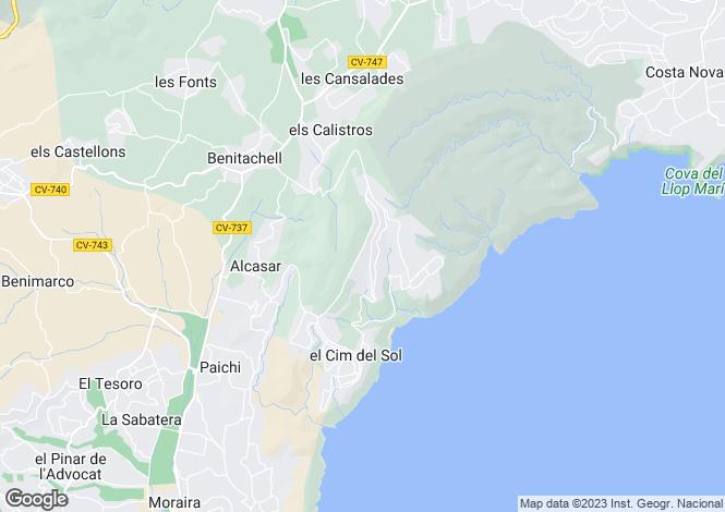 Map for Valencia, Alicante, Cumbre Del Sol