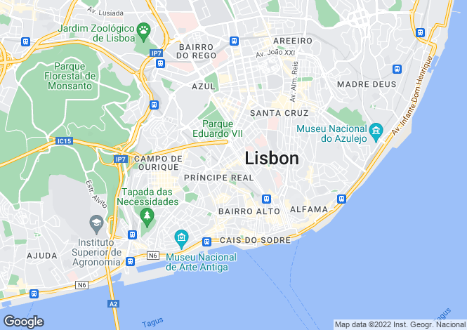 Map for Odeon Development, Lisbon, Portugal