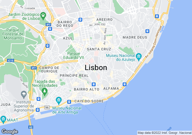 Map for Portugal,Lisboa,Sintra