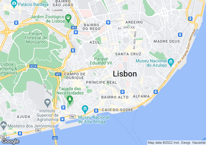 Map for Santo António, Lisboa, Lisboa