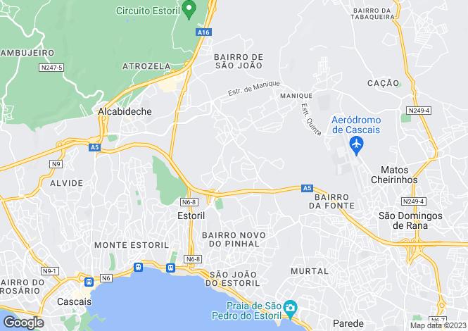 Map for Cascais, Lisboa, Portugal