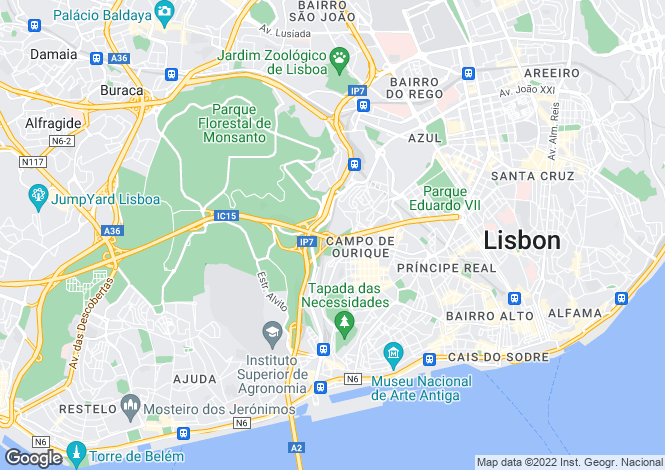 Map for Campo de Ourique, Lisboa, Lisboa