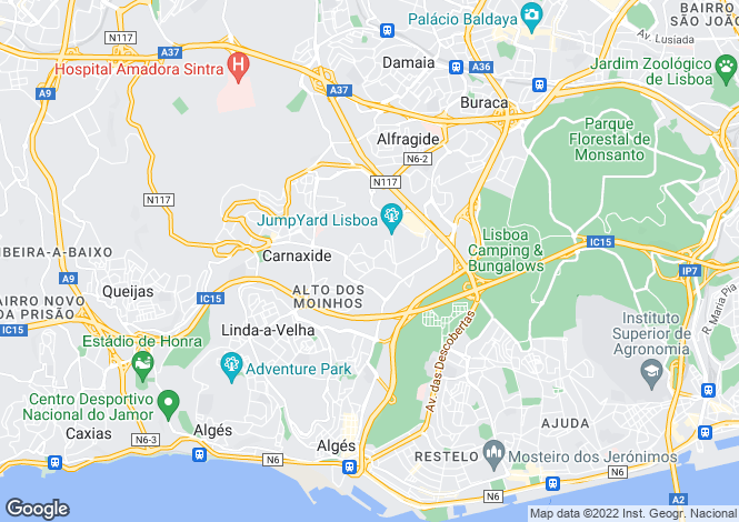 Map for Portugal,Lisboa,Linda-a-Velha
