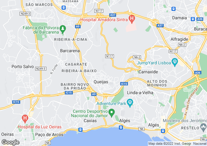 Map for Carnaxide e Queijas, Oeiras, Lisboa