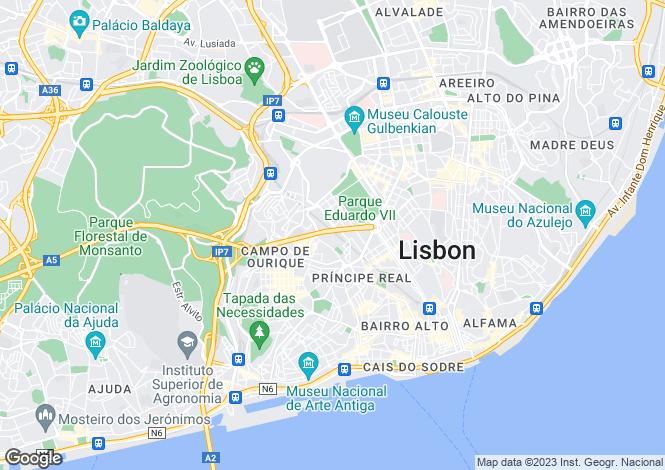 Map for Amoreiras, Lisbon, Portugal, 1070-072