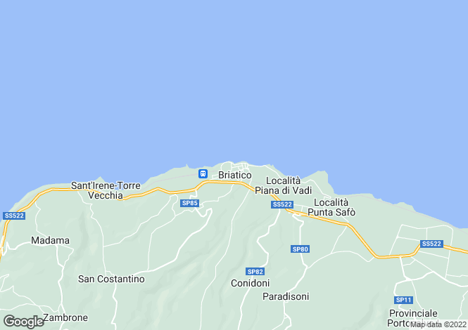 Map for Calabria, Vibo Valentia, Briatico
