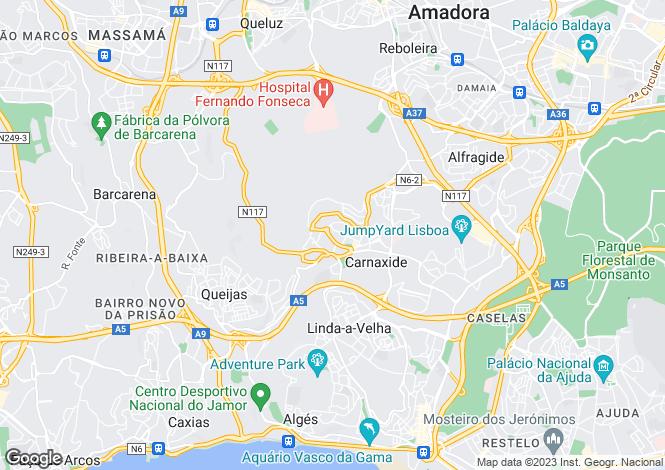 Map for Carnaxide e Queijas, Oeiras, Lisboa