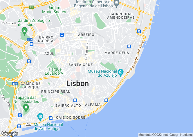 Map for Lisboa