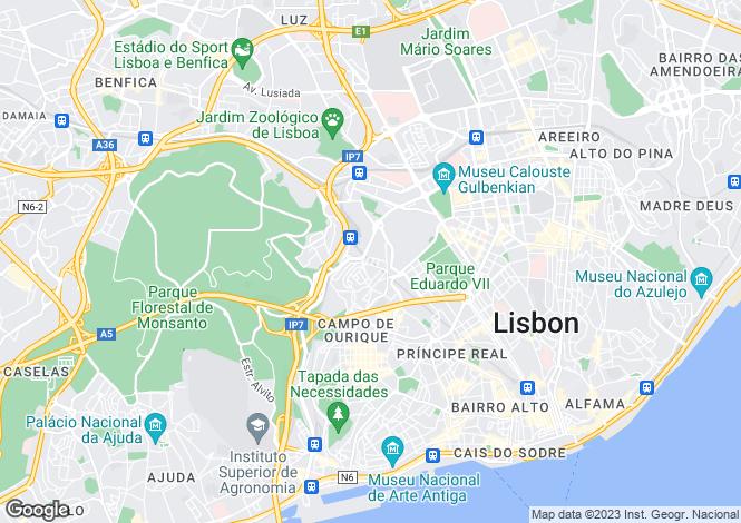 Map for Campolide, Lisboa, Lisboa