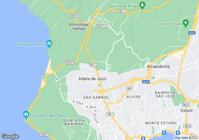 Map for Lisbon, Cascais