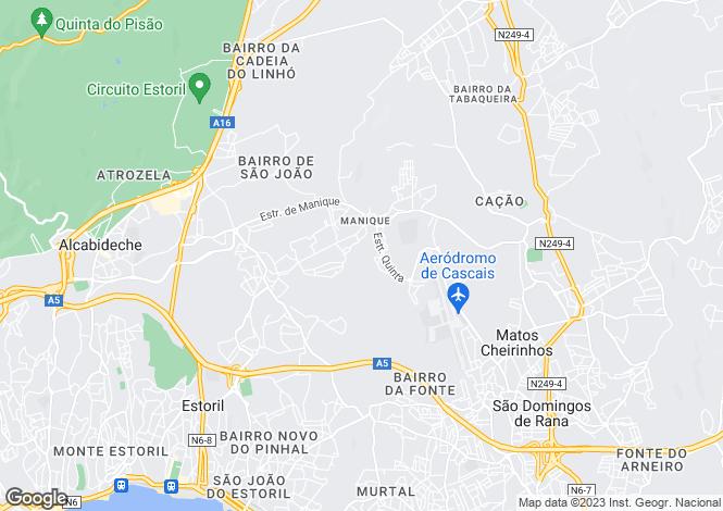 Map for Lisbon, Alcabideche