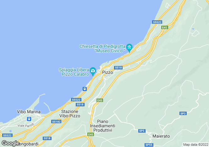 Map for Pizzo, Vibo Valentia, Calabria