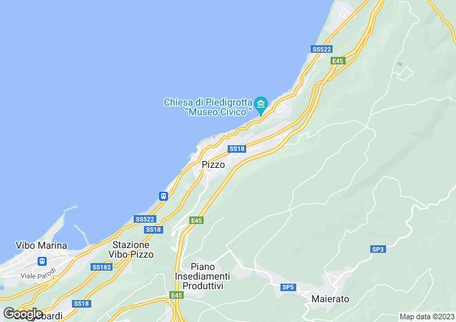 Map for Calabria, Vibo Valentia, Pizzo di Calabria