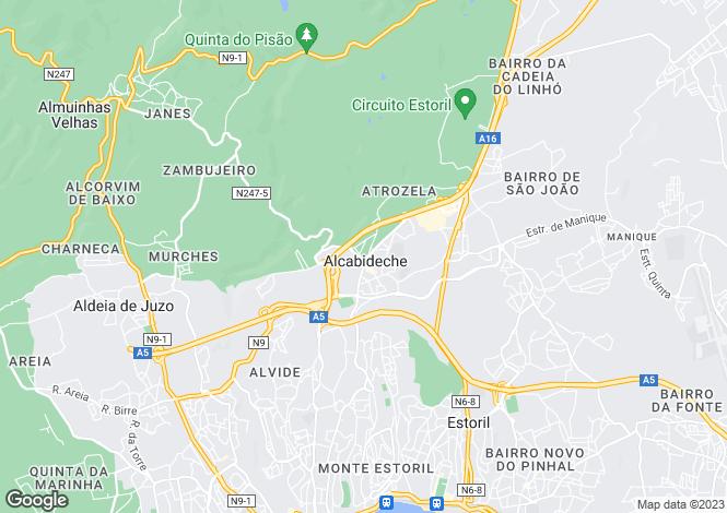 Map for Alcabideche, Cascais, Lisboa