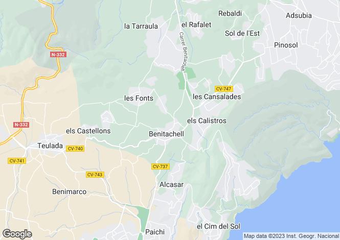 Map for Benitachell, Spain
