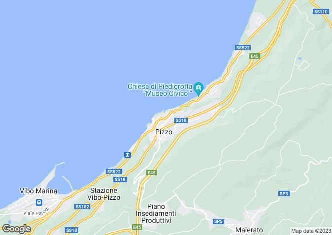 Map for Pizzo di Calabria, Vibo Valentia, Calabria