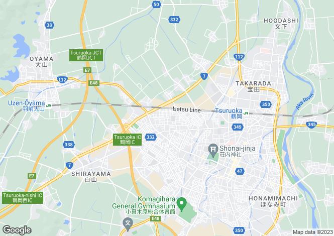 Map for Yamagata