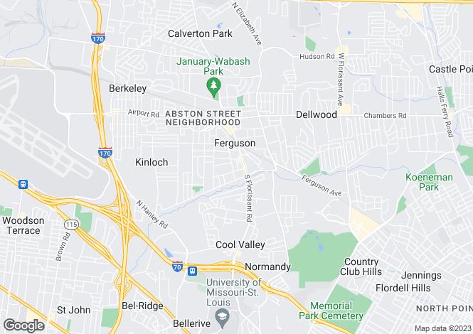 Map for USA - Missouri, St Louis City, St Louis