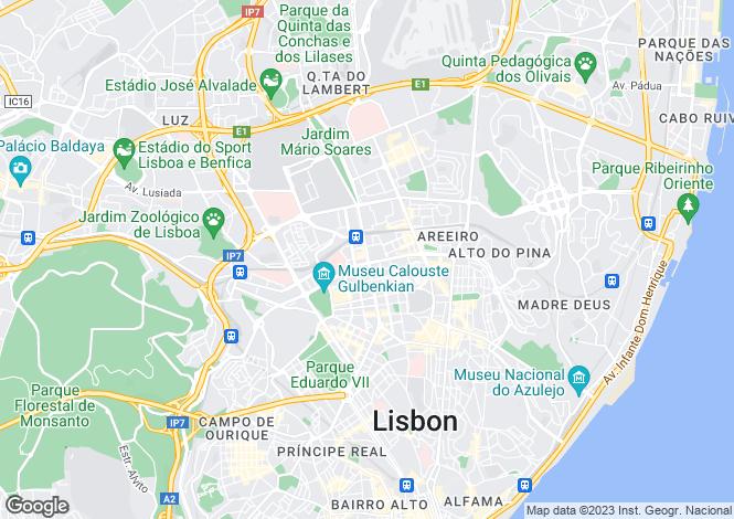 Map for Avenidas Novas, Lisboa, Lisboa