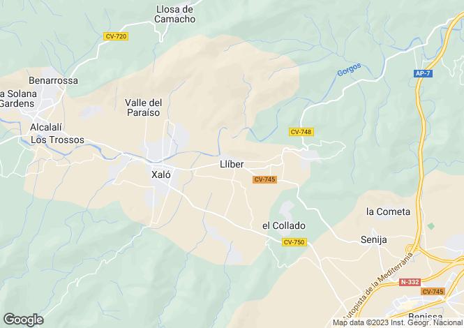 Map for Lliber, Spain