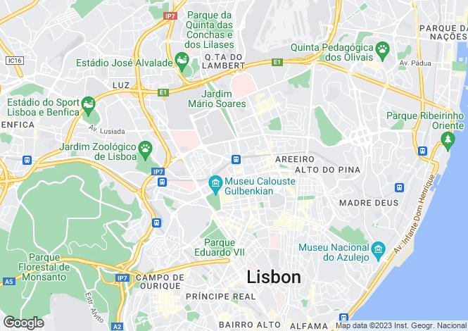 Map for Portugal,Lisboa,Lisboa