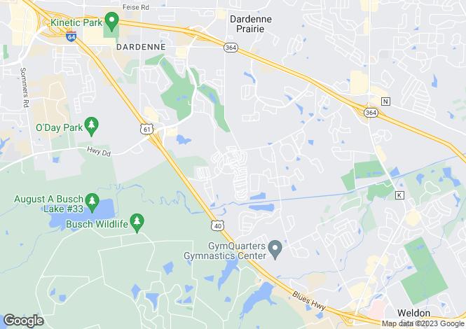 Map for USA - Missouri, St Charles County, O`Fallon
